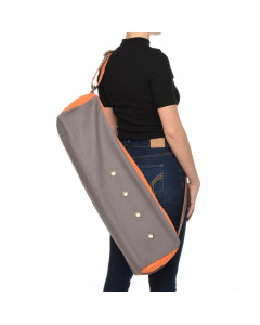 Sac à tapis de yoga cubiste - gris / orange