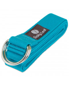 Natural Yoga Strap - Blue