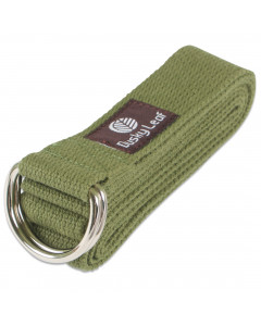 Natural Yoga Strap - Green